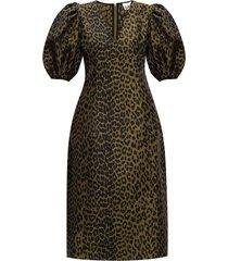 -dier gedrukte jurk