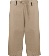 etro straight fit chino shorts - brown