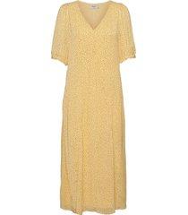 linoa rikkelie 2/4 dress aop dresses everyday dresses gul moss copenhagen