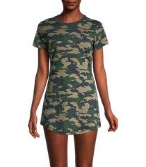 true religion women's camouflage cotton t-shirt dress - camo - size l