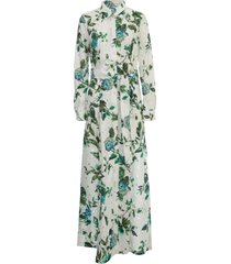 blumarine dress l/s chemisier w/flowers printing