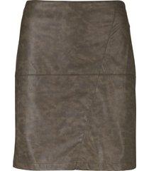 gonna in similpelle effetto lavato (marrone) - john baner jeanswear