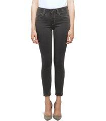 women's l'agence margot crop skinny jeans, size 29 - grey