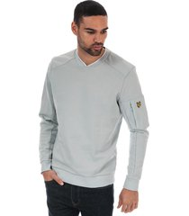 mens nylon panel sweatshirt