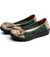 bowknot slip on casual punta rotonda old peking flats loafers