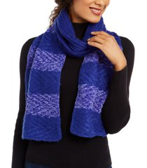 inc chenille striped arrow-stitch muffler scarf, created for macy's
