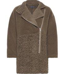 irenea faux fur coat outerwear faux fur grön french connection