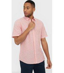 only & sons onscaiden ss linen shirt noos skjortor ljus rosa