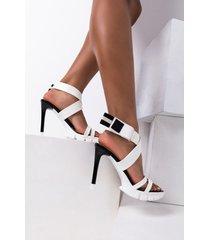akira azalea wang watch the mood stiletto sandal in white