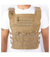 colete br force plate carrier couraça - coyote