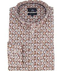 state of art overhemd oranje printje regular fit