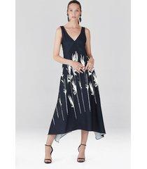 natori bamboo fluid crepe slip dress, women's, size l