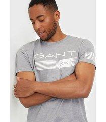gant d1. 13 stripes ss t-shirt t-shirts & linnen grey melange