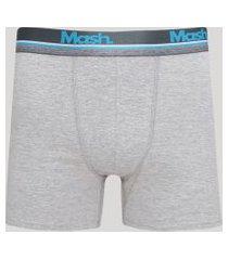 cueca masculina mash boxer cinza mescla claro