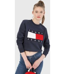 buzo negro-multicolor tommy jeans