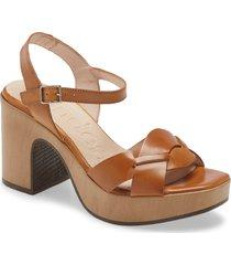 women's wonders block heel sandal, size 11us - brown
