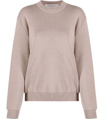 golden goose sweater darlyn basic - lettering cotton pure