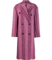 acne studios oversized buttoned coat - pink