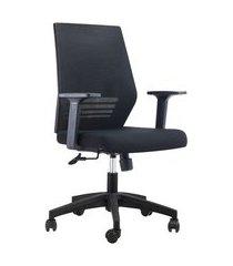 cadeira de escritório gerente giratória braga preta
