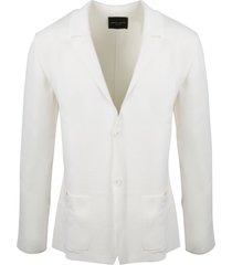 roberto collina stretch cotton knit blazer