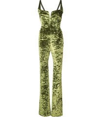 galvan evening jumpsuit - green