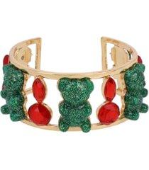 betsey johnson festive gummy bear cuff bracelet