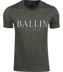 ballin new york ballin heren t-shirt met 3d reliëf opdruk -