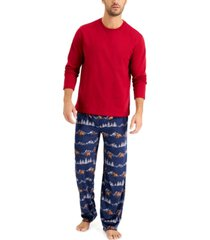 club room men's pajama set, created for macy's