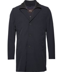 dalton coat dunne lange jas blauw oscar jacobson