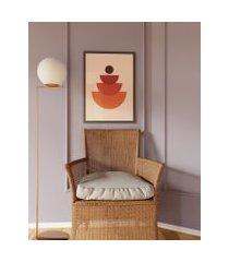 amaro feminino obrah poster minimal geometry - 42 x 59,4cm, multi colorido