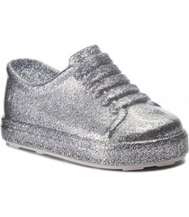tenis plata glitter melissa mini be bb