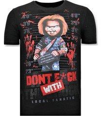 t-shirt korte mouw local fanatic stoere bloody chucky print