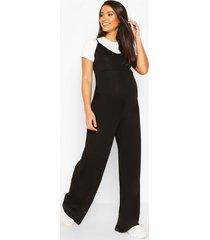 maternity 2 in 1 t-shirt jumpsuit, black