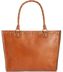 patricia nash zancona smooth leather tote