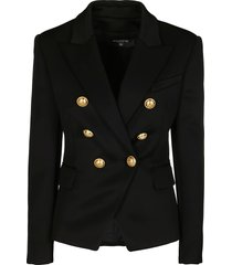 black viscose blend blazer