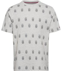 cn ss tee all over print th cool t-shirts short-sleeved grå tommy hilfiger