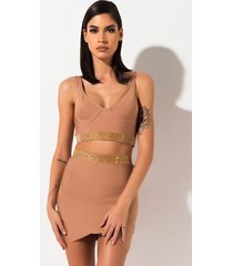 akira i'm worth it rhinestone bandage mini skirt