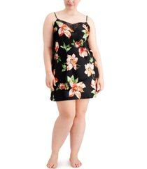 inc plus size floral print chemise nightgown, created for macy's