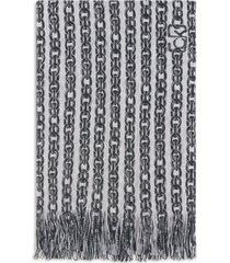 calvin klein printed signature chain logo scarf