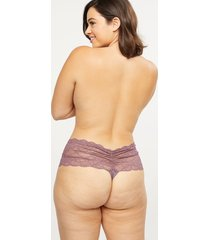 lane bryant women's lace wide-side thong panty 22/24 flint