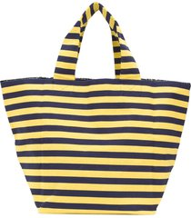 daniela gregis oversized striped tote - yellow