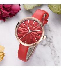 cinturino alla moda orologio al quarzo pu cinturino in pelle orologio da donna impermeabile in oro rosa