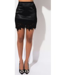 akira get me satin lace mini skirt