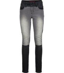 jeans skinny bicolore in stile biker (nero) - rainbow