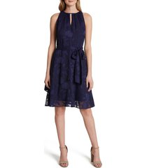 women's tahari burnout floral chiffon dress