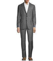 classic fit milburn iim series checker wool suit
