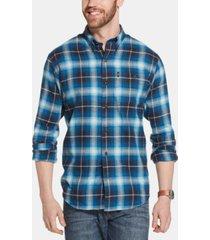 g.h. bass & co. men's fireside classic-fit plaid flannel shirt