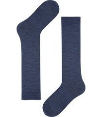 calzedonia - tall wool and cotton socks, 44-45, blue, men