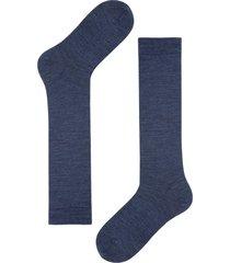 calzedonia - long wool and cotton socks, 44-45, blue, men