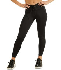 guess lace-up leggings